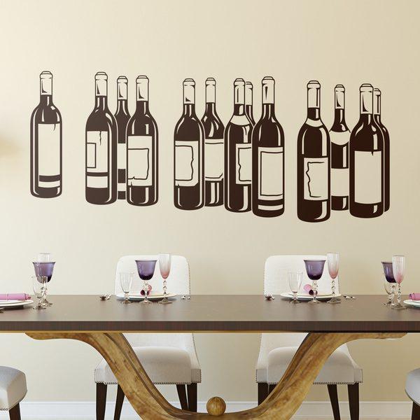 Vinilos Decorativos: Botellas de vino tinto