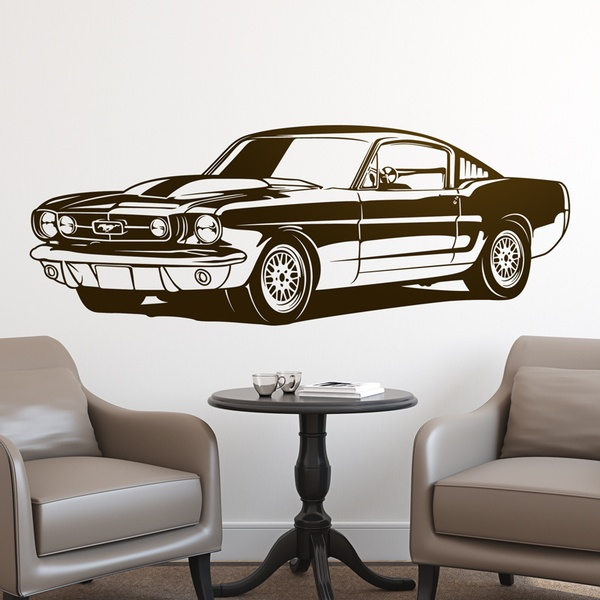 Vinilo decorativo ford mustang shelby gt350 1966 for Frases en vinilo para pared