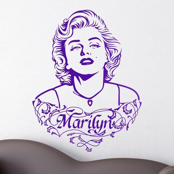 Vinilos Decorativos: Marilyn Monroe Ornamentos y texto