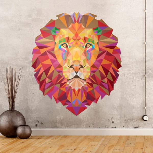 Vinilos Decorativos: Cabeza de león origami