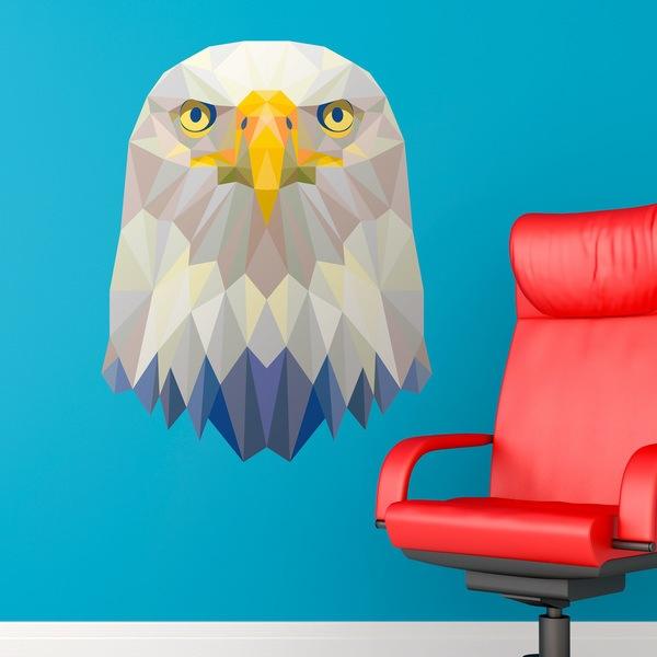 Vinilos Decorativos: Cabeza de águila origami