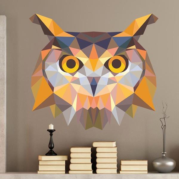 Vinilos Decorativos: Cabeza de búho origami