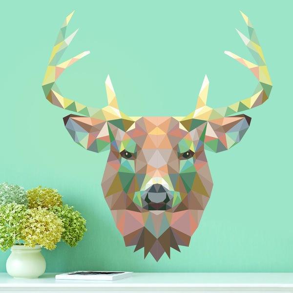 Vinilos Decorativos: Cabeza de ciervo origami