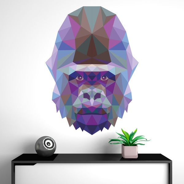 Vinilos Decorativos: Cabeza de gorila origami