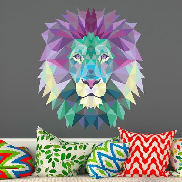 Vinilos Decorativos: Cabeza de león origami 2