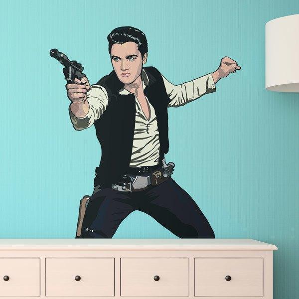 Vinilos Decorativos: Elvis Han Solo