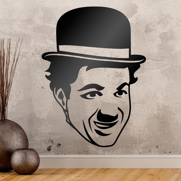 Vinilos Decorativos: Cara de Charles Chaplin
