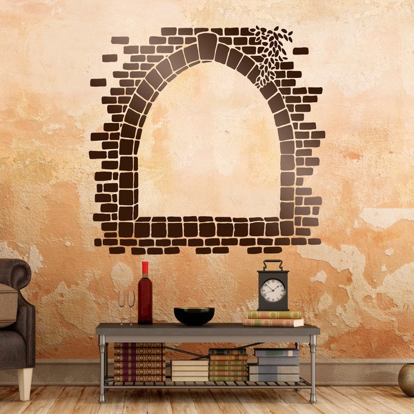 Vinilos Decorativos: Ventanal de piedra