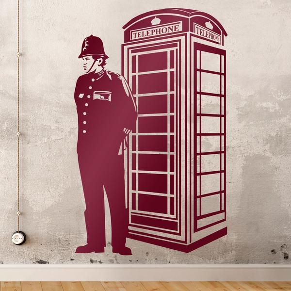 Vinilos Decorativos: Cabina londinense y guardia británico
