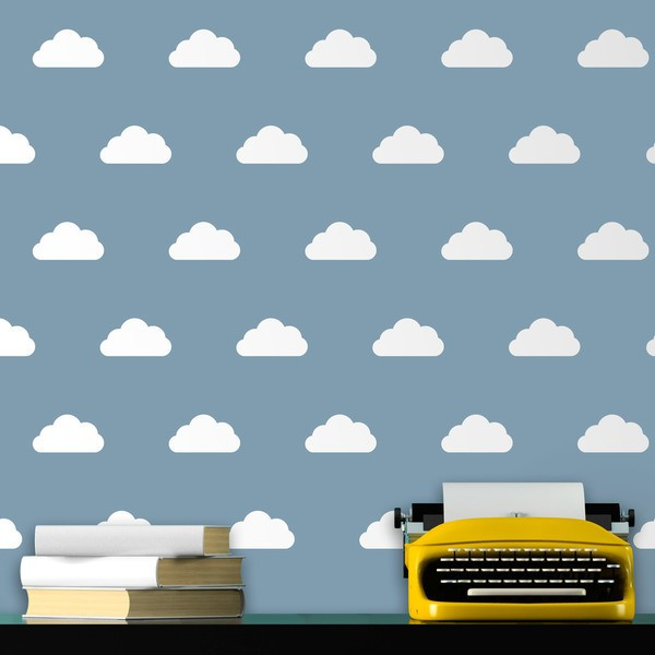Vinilos Decorativos: Kit de 12 vinilos de nubes