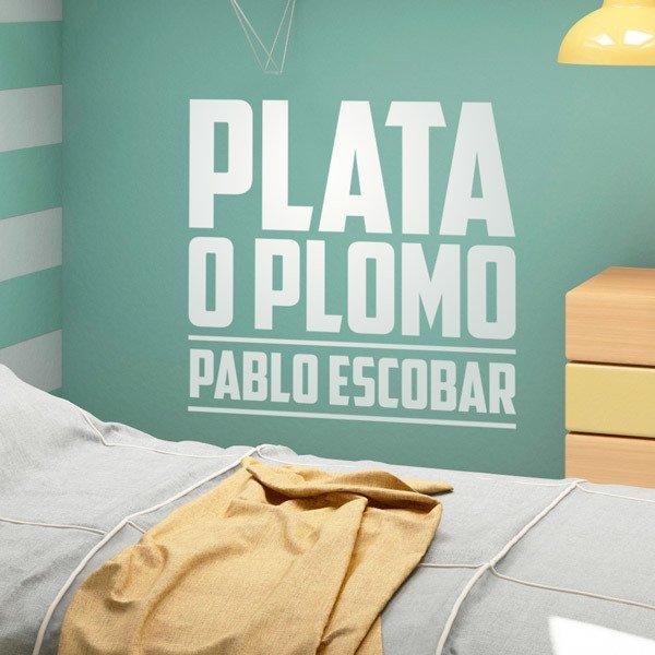 Vinilos Decorativos: Plata o Plomo Pablo Escobar