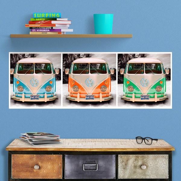 Poster adhesivo 3 furgonetas bully 2 - Posters decorativos ...