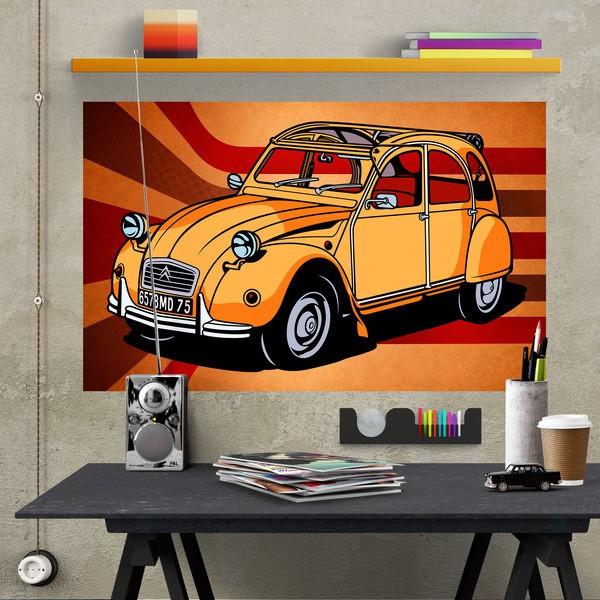 Vinilos Decorativos: Póster adhesivo Citroën 2CV
