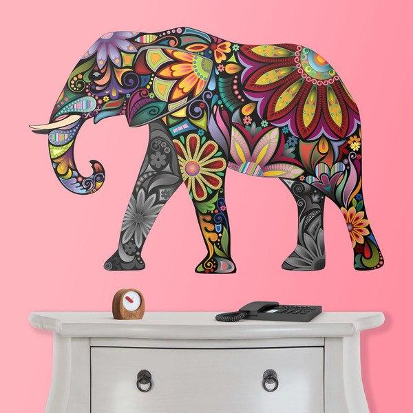 Vinilos Decorativos: Elefante Hindú