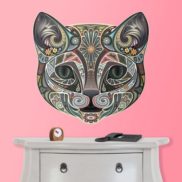 Vinilos Decorativos: Cabeza de gato hindú