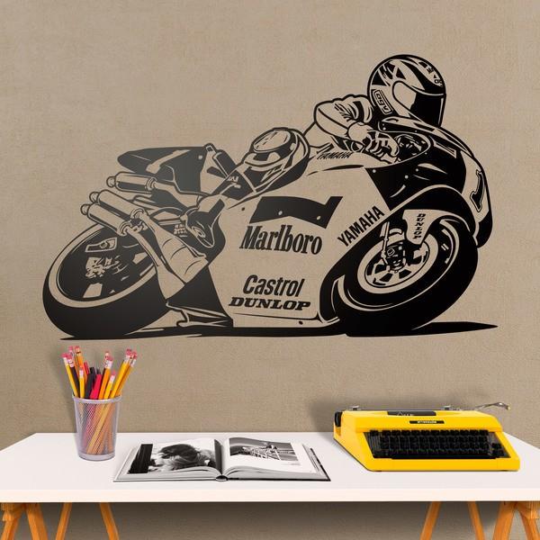 Vinilos Decorativos: Moto Yamaha Wayne Rainey