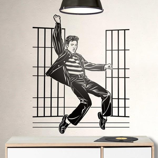 Vinilos Decorativos: Elvis Presley Jailhouse Rock