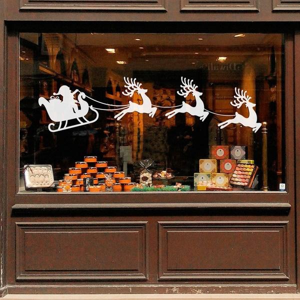Vinilos Decorativos: Papá Noel y su trineo