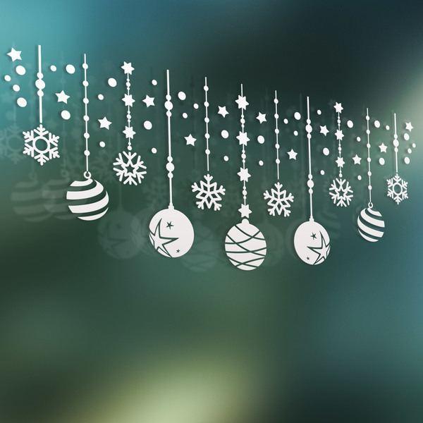 Vinilos Decorativos: Composición navideña de bolas y estrellas