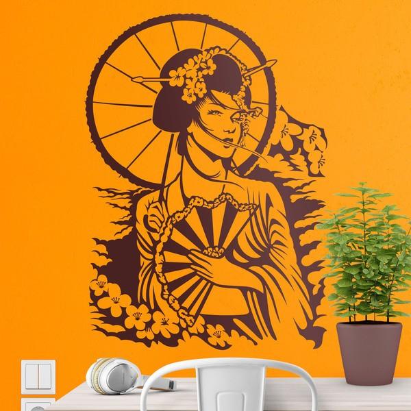 Vinilos Decorativos: Geisha japonesa