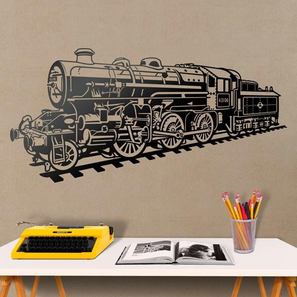 Vinilos Decorativos: Locomotora tren de vapor