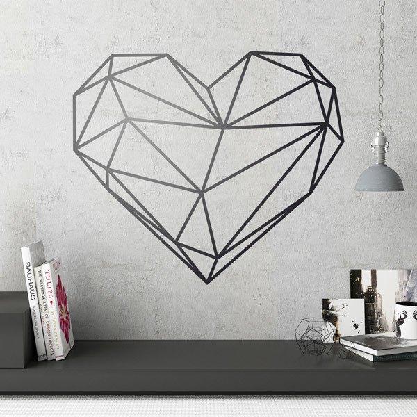 Vinilos Decorativos: Origami geométrico corazón