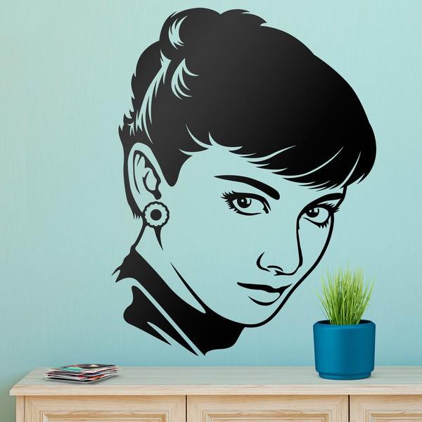 Vinilos Decorativos: La mirada de Audrey Hepburn