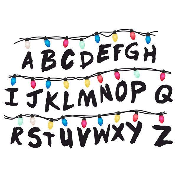 Vinilos Decorativos: Alfabeto de Stranger Things