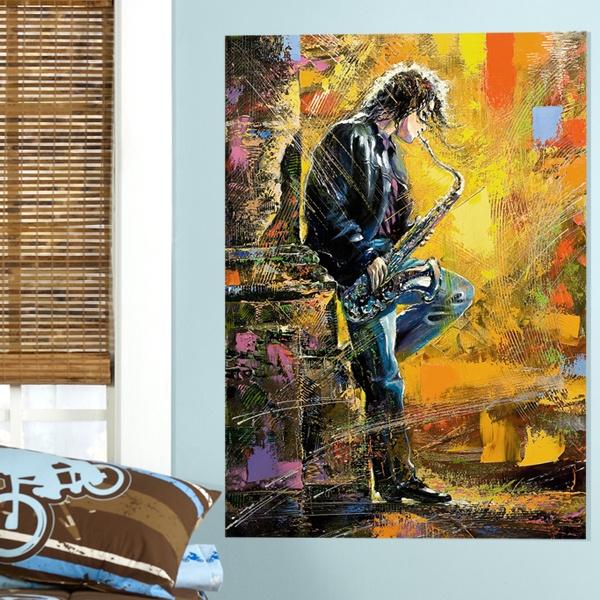 Vinilos Decorativos: Saxofonista callejero