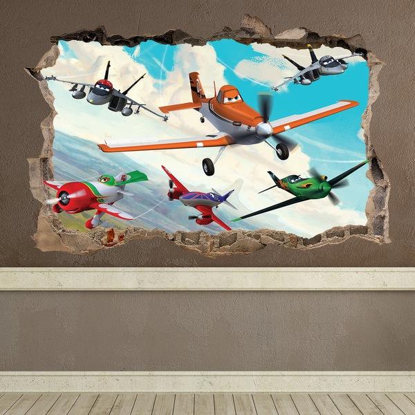 Vinilos Decorativos: Agujero Aviones