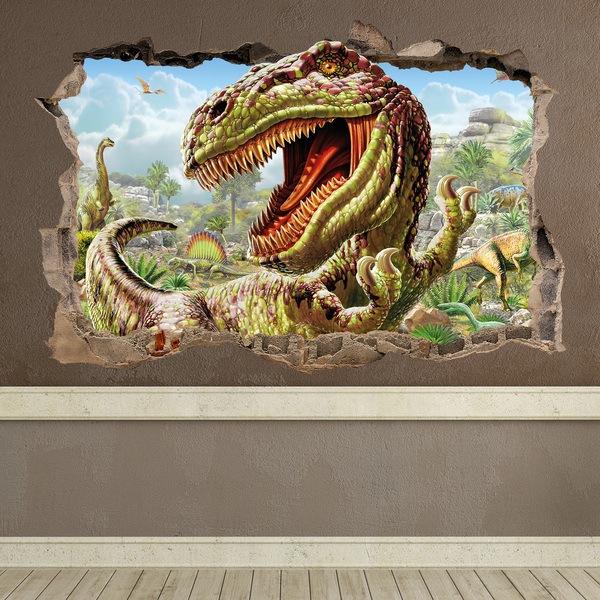 Vinilos decorativos de dinosaurios para niños