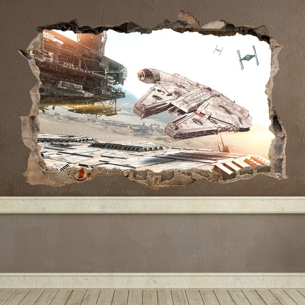 Vinilos Decorativos: Agujero Halcón Milenario Star Wars