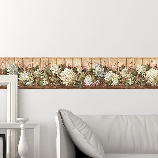 Vinilos Decorativos: Cenefa  Flores
