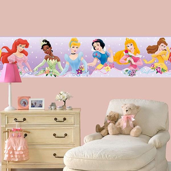 Vinilos Infantiles: Cenefas Princesas Disney