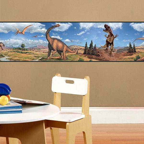 Vinilos Infantiles: Cenefa Dinosaurios