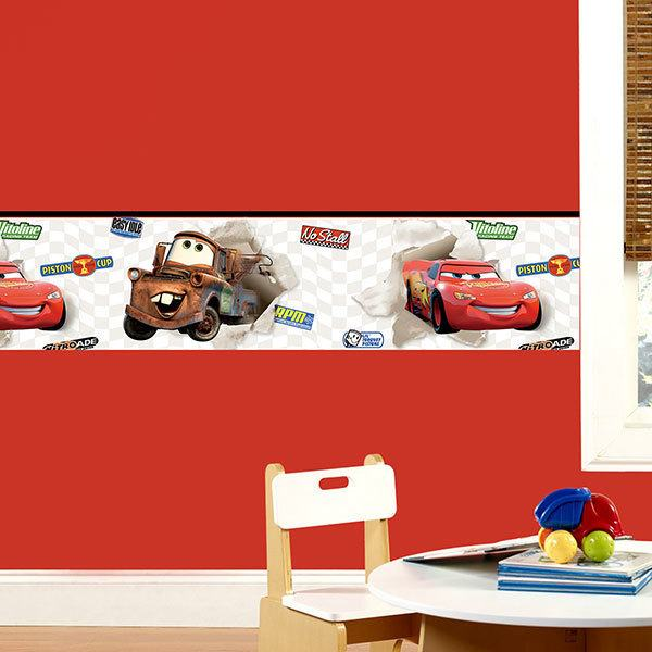 Vinilos Infantiles: Cenefa Cars