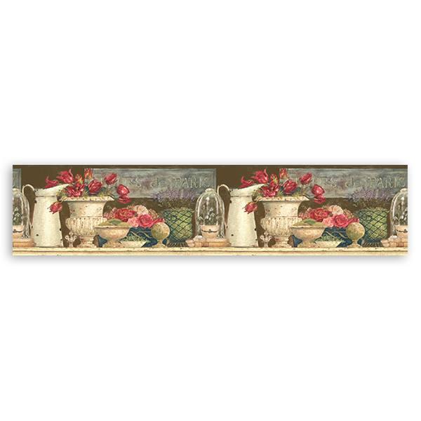 Vinilos Decorativos: Cenefa Flores de París