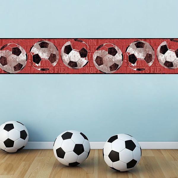 Vinilos Infantiles: Cenefa Futbol