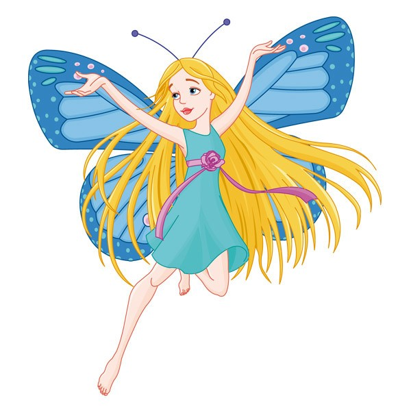 Vinilos Infantiles: Hada Mariposa Azul