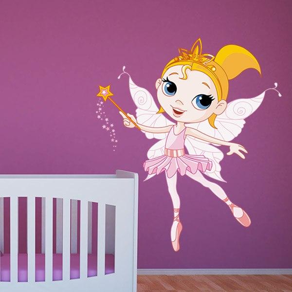 Vinilos Infantiles: Hada Bailarina Rosa