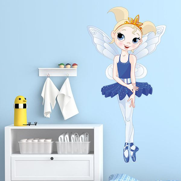 Vinilos Infantiles: Hada Bailarina Azul