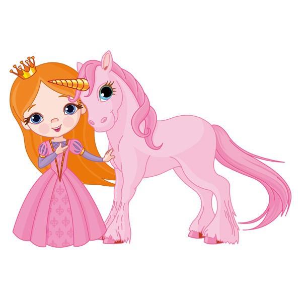 Vinilos Infantiles: Hada y Unicornio