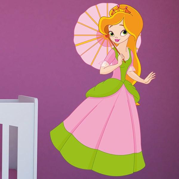 Vinilos Infantiles: Princesa con sombrilla