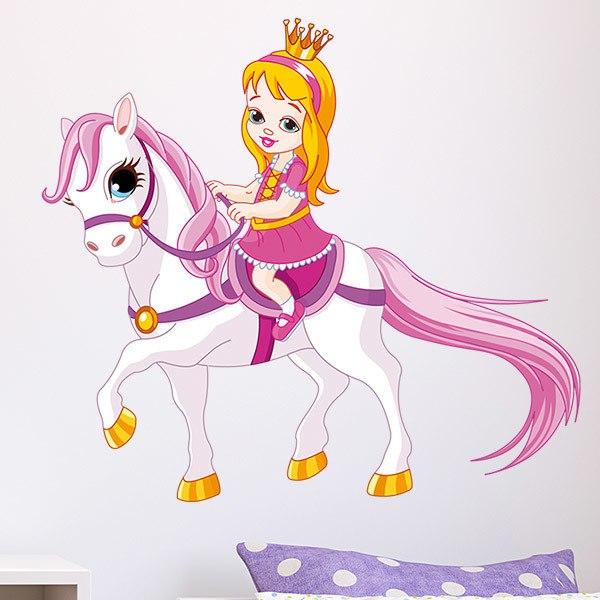 Vinilos Infantiles: Princesita y Pony