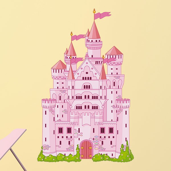 Vinilos Infantiles: Gran Castillo Rosa