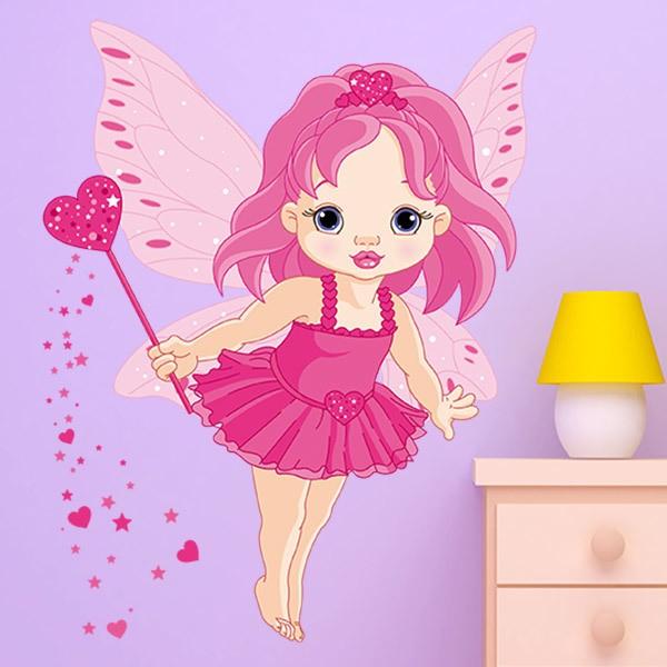 Vinilos Infantiles: Pequeña hada mariposa