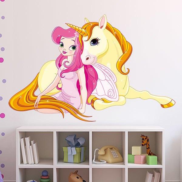 Vinilos Infantiles: Princesa y Unicornio