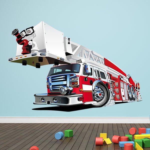 Vinilos Infantiles: Camión de bomberos