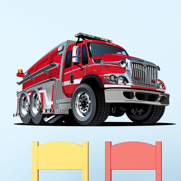 Vinilos Infantiles: Camión de bomberos 2