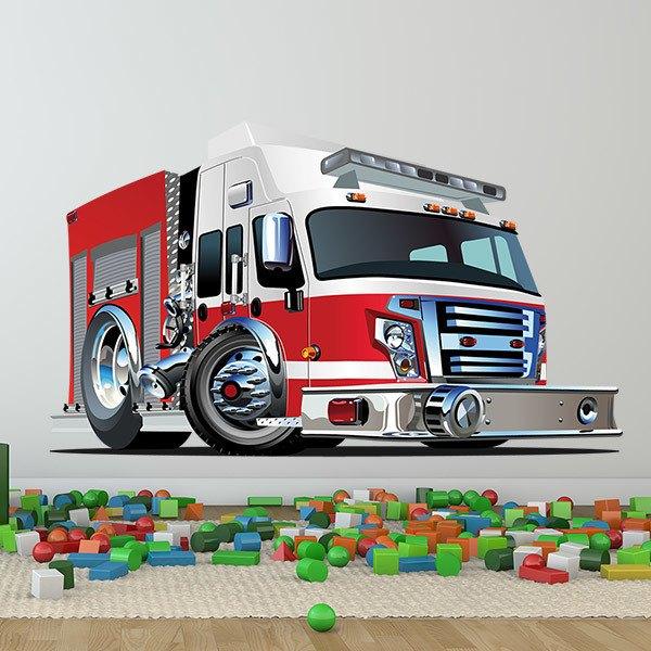 Vinilos Infantiles: Camión de bomberos 4